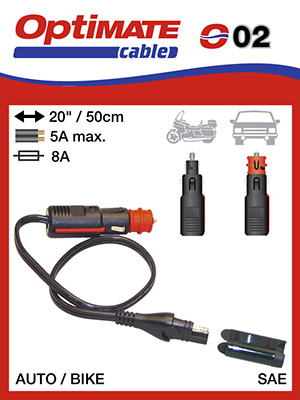 SAE to Bike 90° Plug Adapter Optimate Cable O-19